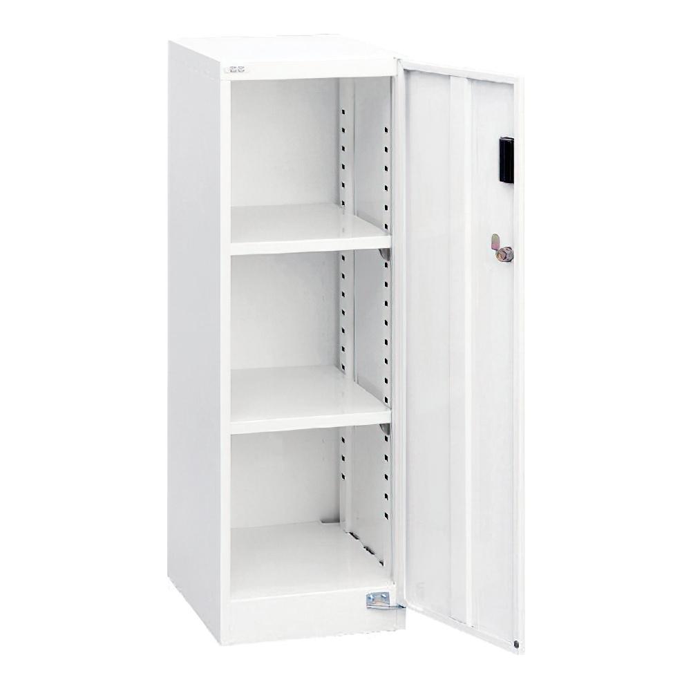 A4セキュリティフロアケース 棚板タイプ W277 D366 H880 ホワイト 収納家具 書類整理庫 セキュリティタイプフロアケース 収納家具 ファイルキャビネット オフィ