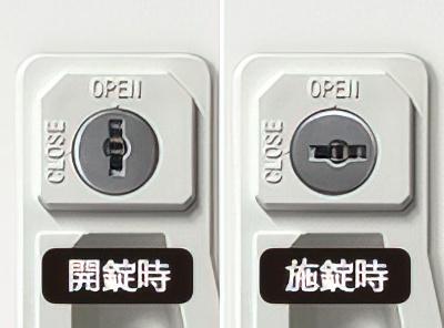 6人用シンプルスチールロッカー(LKA-W6)の錠前