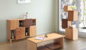 木製インテリア家具シリーズの設置例3