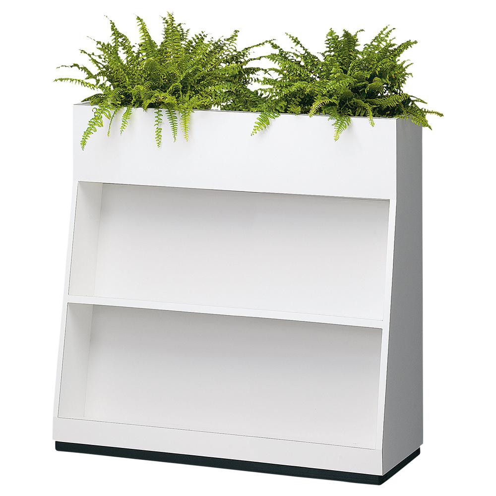 BS型フラワーボックス W900×D350×H900mm フラワースタンド 人工植物 オフィスアクセサリー 人工樹木 オフィス用品 オフィス家具