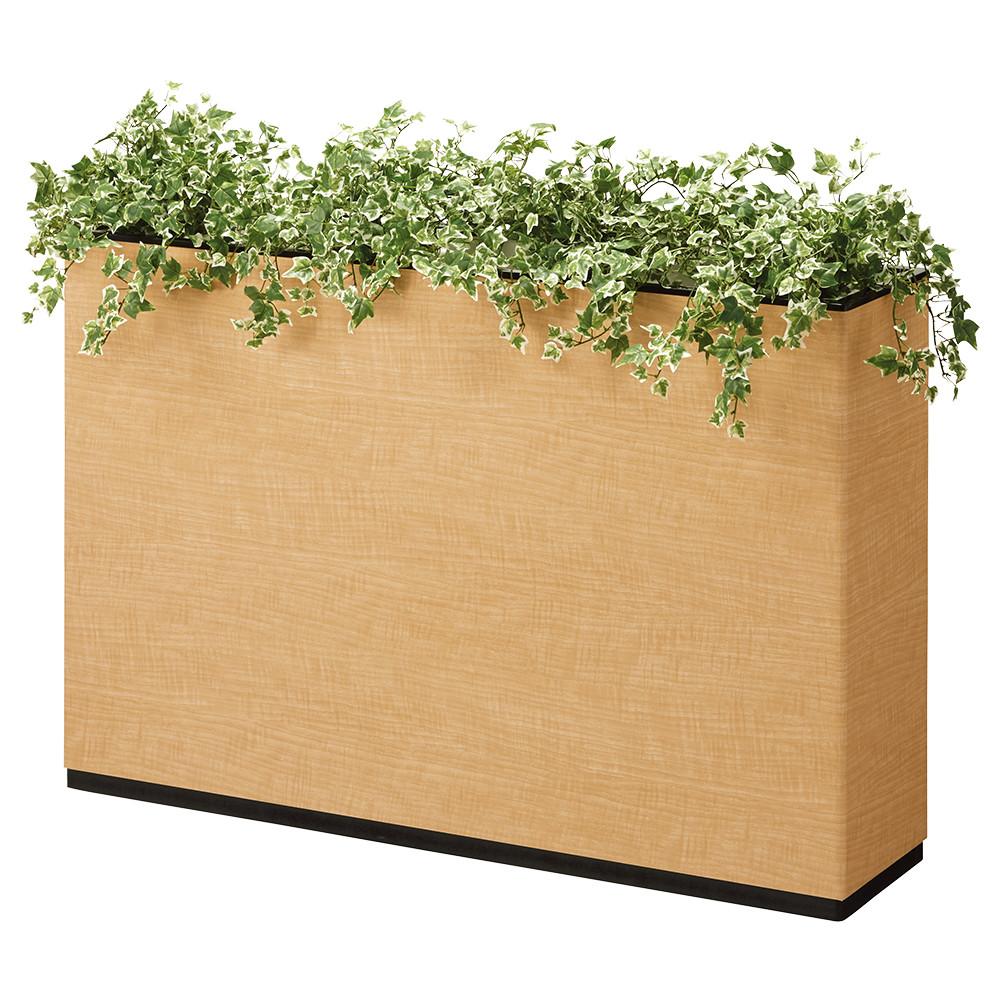 I型フラワーボックス W1200×D300×H800mm フラワースタンド 人工植物 オフィスアクセサリー 人工樹木 オフィス用品 オフィス家具