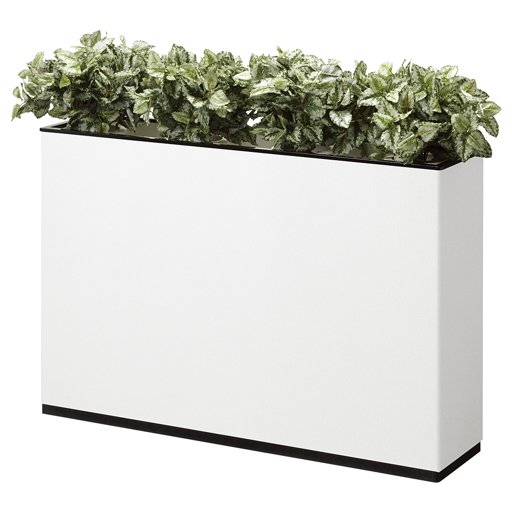 J型フラワーボックス W1200×D300×H800mm フラワースタンド 人工植物 オフィスアクセサリー 人工樹木 オフィス用品 オフィス家具