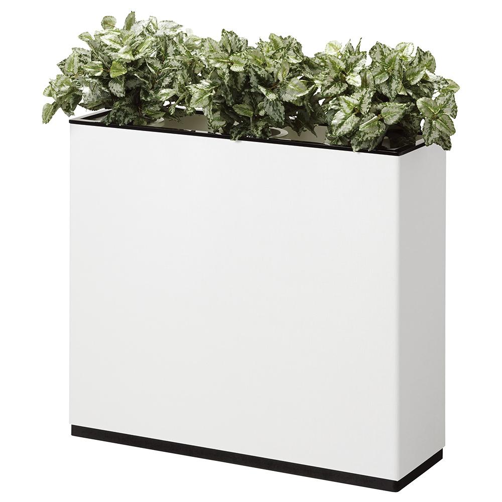 J型フラワーボックス W900×D300×H800mm フラワースタンド 人工植物 オフィスアクセサリー 人工樹木 オフィス用品 オフィス家具