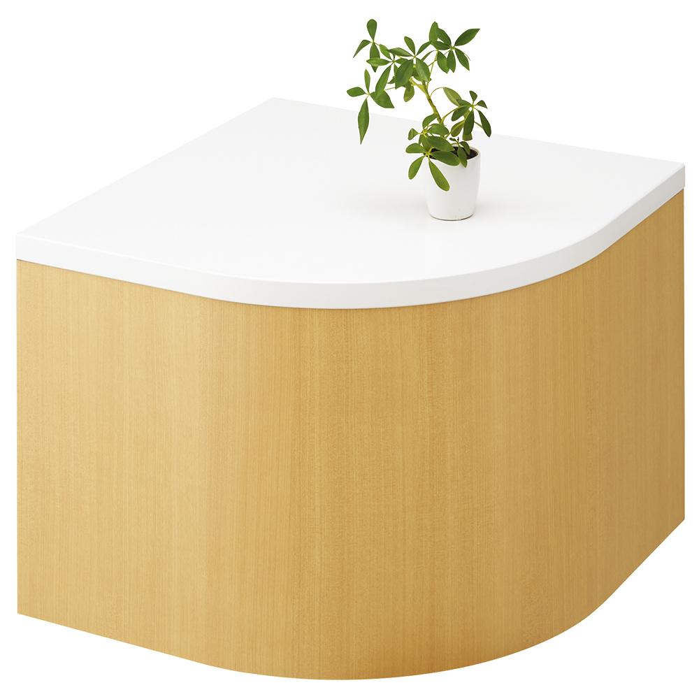 コーナーテーブル LSシリーズ W600×D600×H450mm フラワースタンド 人工植物 オフィスアクセサリー 人工樹木 オフィス用品 オフィス家具