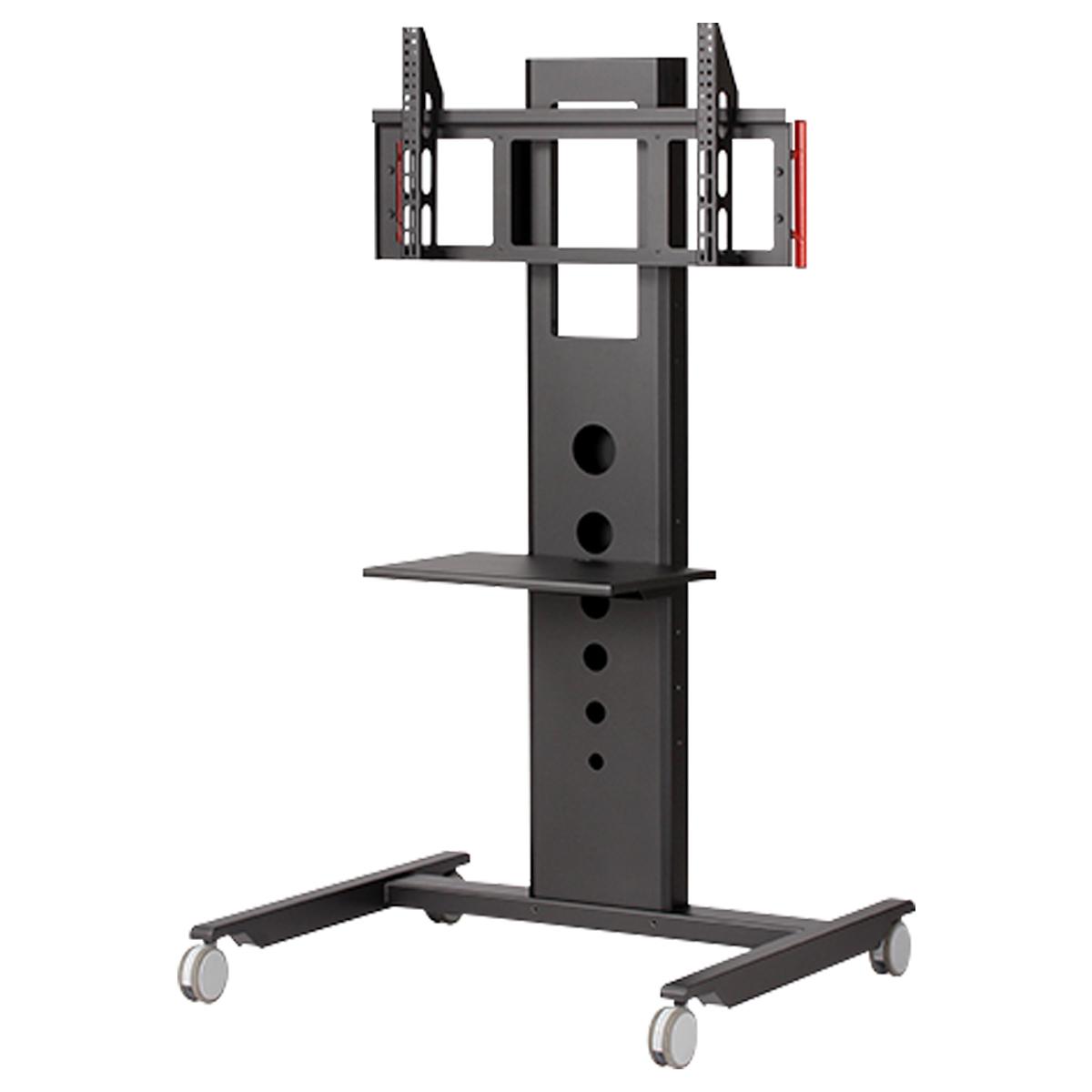 モニタワー ラージタイプ W1000 D850 H1660 ブラック オフィスアクセサリー ディスプレイスタンド テレビ台 オーディオラック ディスプレイ スタンド オフィス