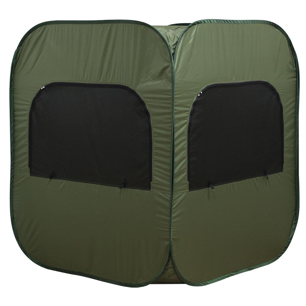 オフィス用プライバシー個室テント W1300 D1300 H1500  グリーン