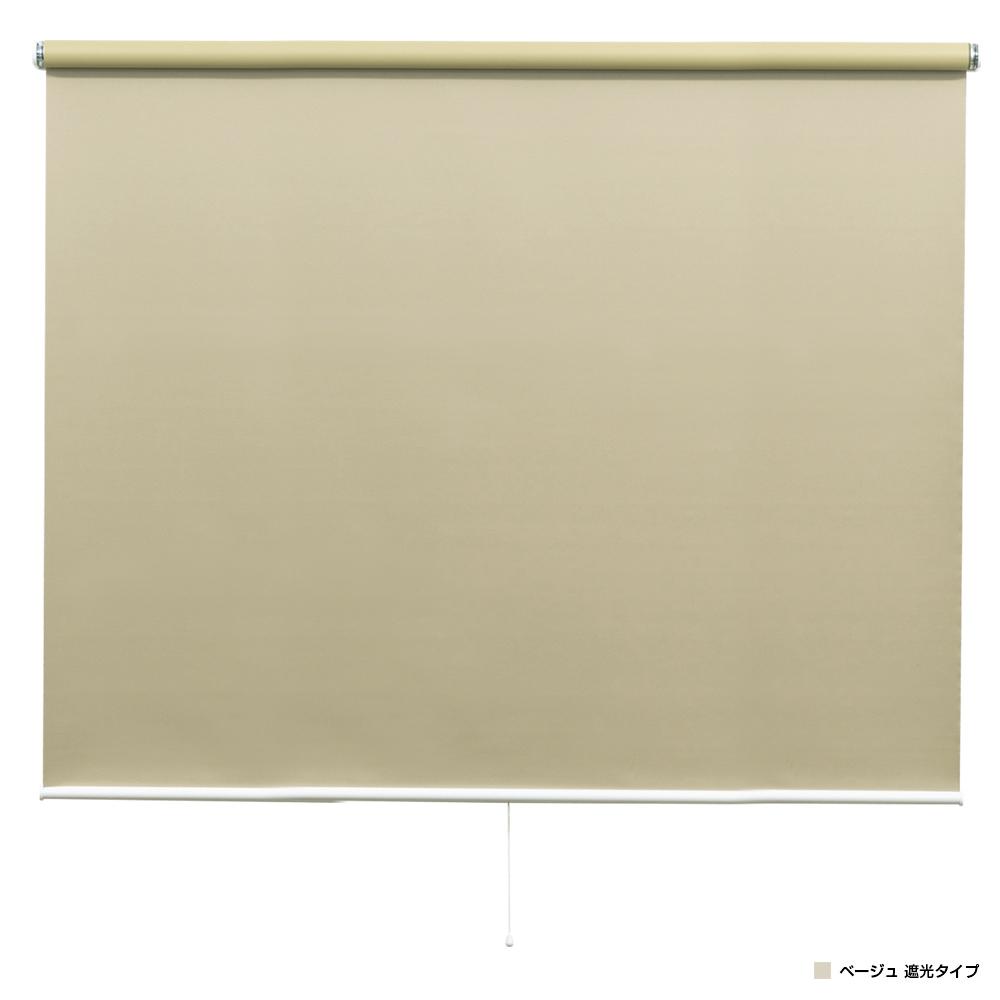 強力つっぱり式ロールスクリーン W900 D68 H1800 ベージュ オフィスアクセサリー アクセサリー インテリア エクステリア 窓用品 ブラインド シェード オフィス