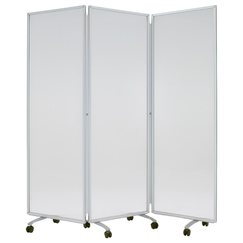 半透明三つ折衝立 W1800×D400×H1800mm パーティション 間仕切り パーテーション オフィス ポリカ オフィス家具