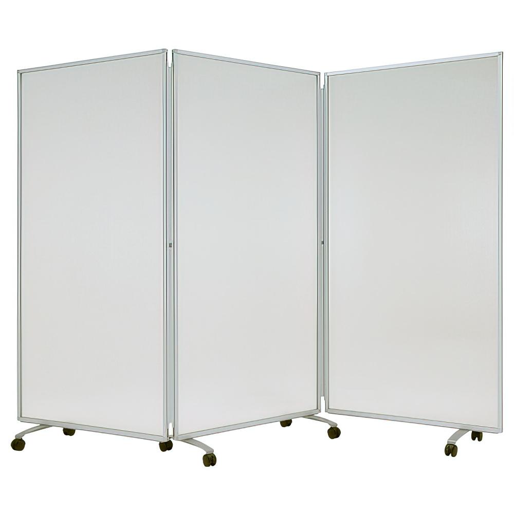 半透明三つ折衝立 W2700×D400×H1800mm パーティション 間仕切り パーテーション オフィス ポリカ オフィス家具