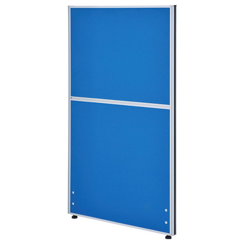 クロス型システムパーテーション H1200×W700mm パーティション 間仕切り ブルー パーテーション クロス貼り オフィス家具
