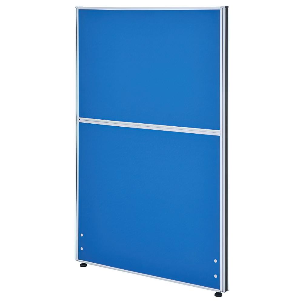 クロス型システムパーテーション H1200×W800mm パーティション 間仕切り ブルー パーテーション クロス貼り オフィス家具