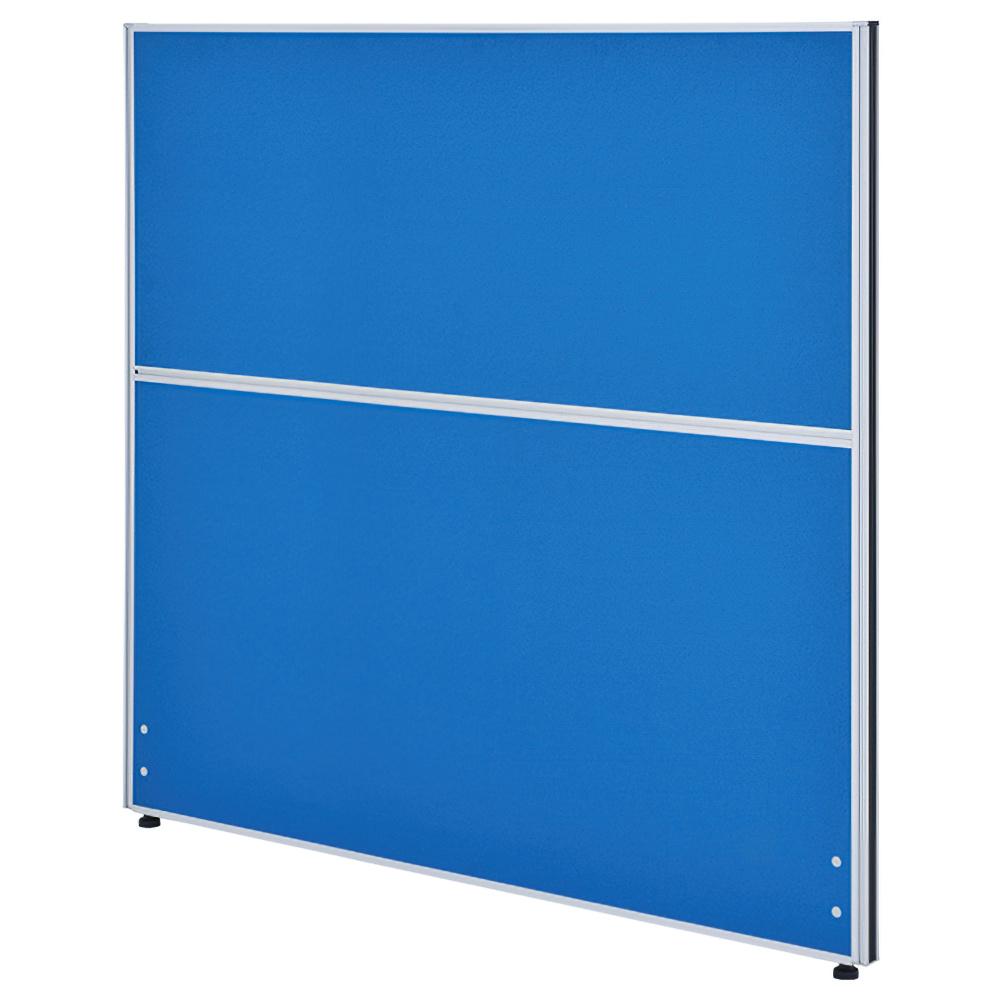 クロス型システムパーテーション H1200×W1200mm パーティション 間仕切り ブルー パーテーション クロス貼り オフィス家具