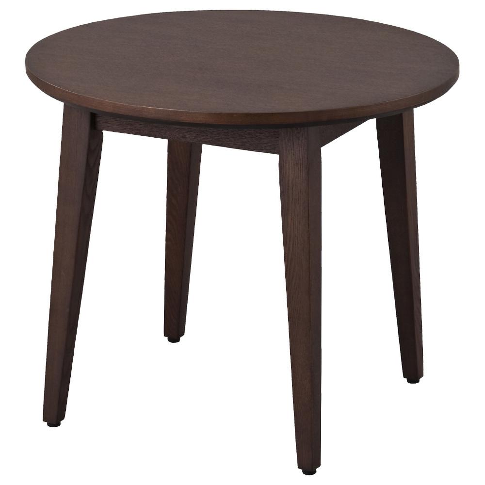 アルモ ローテーブル 600φ×H500mm ダークブラウン ダイニングテーブル 談話テーブル ソファーテーブル オフィス家具