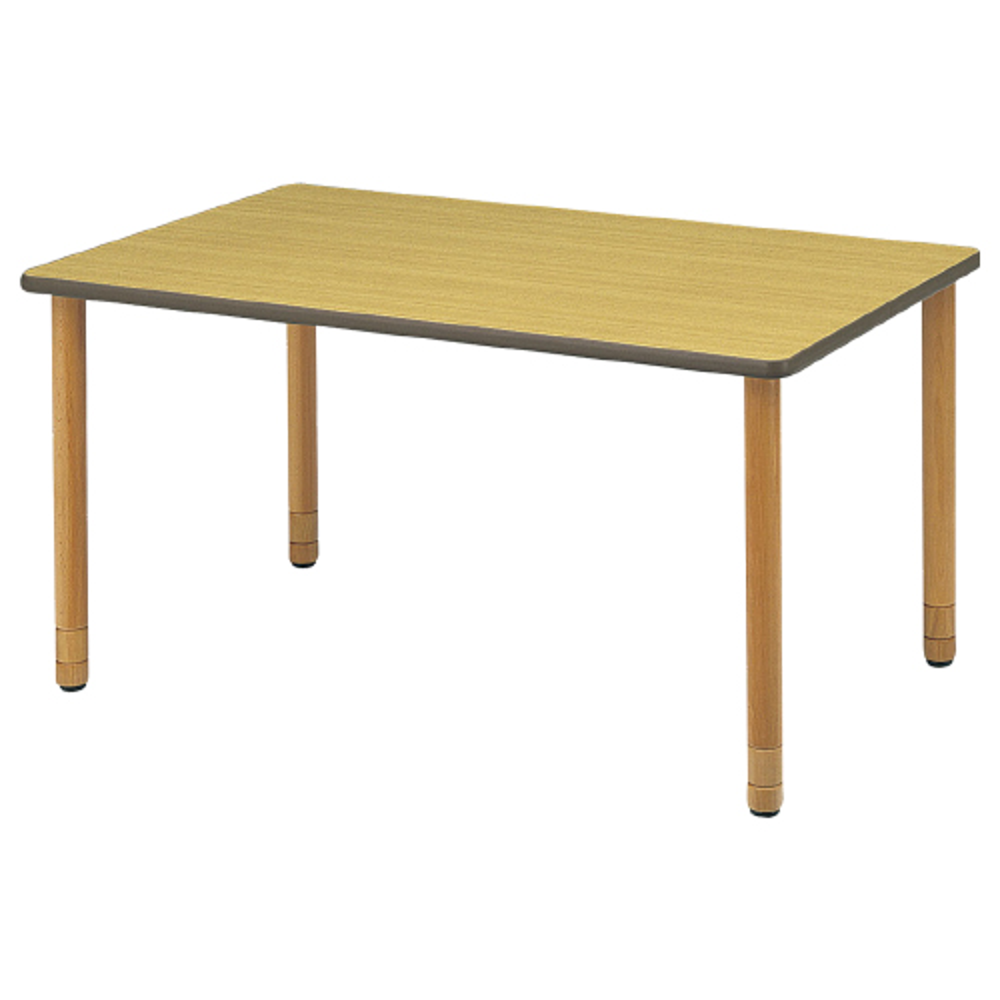 スペーサー脚木製テーブル W1500×D900×H640-740mm ナチュラル ダイニングテーブル 談話テーブル 福祉家具 オフィス家具