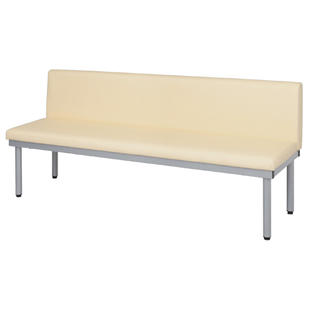 背付きロビーチェア W1200×D500×H690mm アイボリー 介護家具 福祉家具高齢者向け チェア 椅子