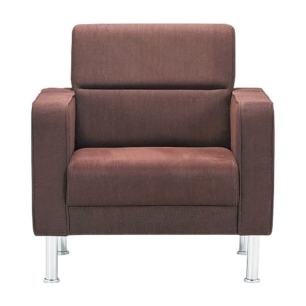 プレッグ アームチェア ファブリック W740×D780×H790mm ダークブラウン 布張り 応接家具 レセプション オフィス家具
