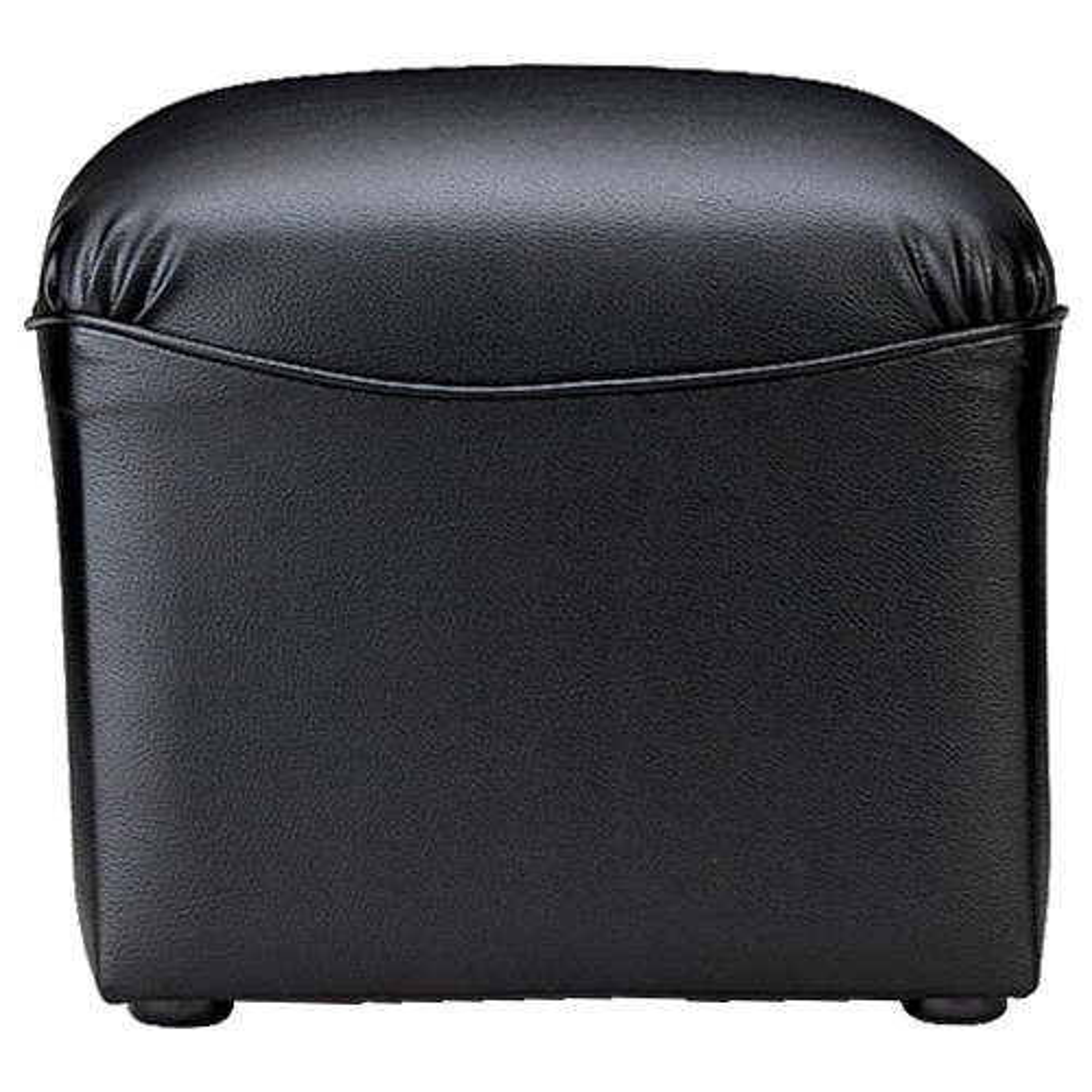 プリーダ スツール W450×D450×H380mm ブラック ビニールレザー張り 応接家具 レセプション オフィス家具