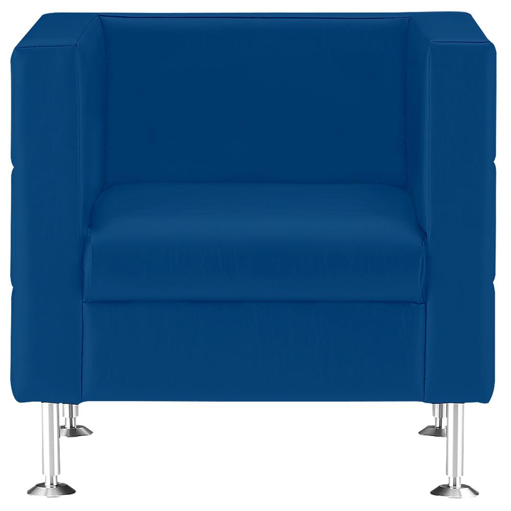 ブロート 1人掛けスクエアソファー W720 D610 H690 ブルー 応接家具 ソファー ソファ デザイン インテリア カラー コンパネ キルト ベーシック 応接ソファー