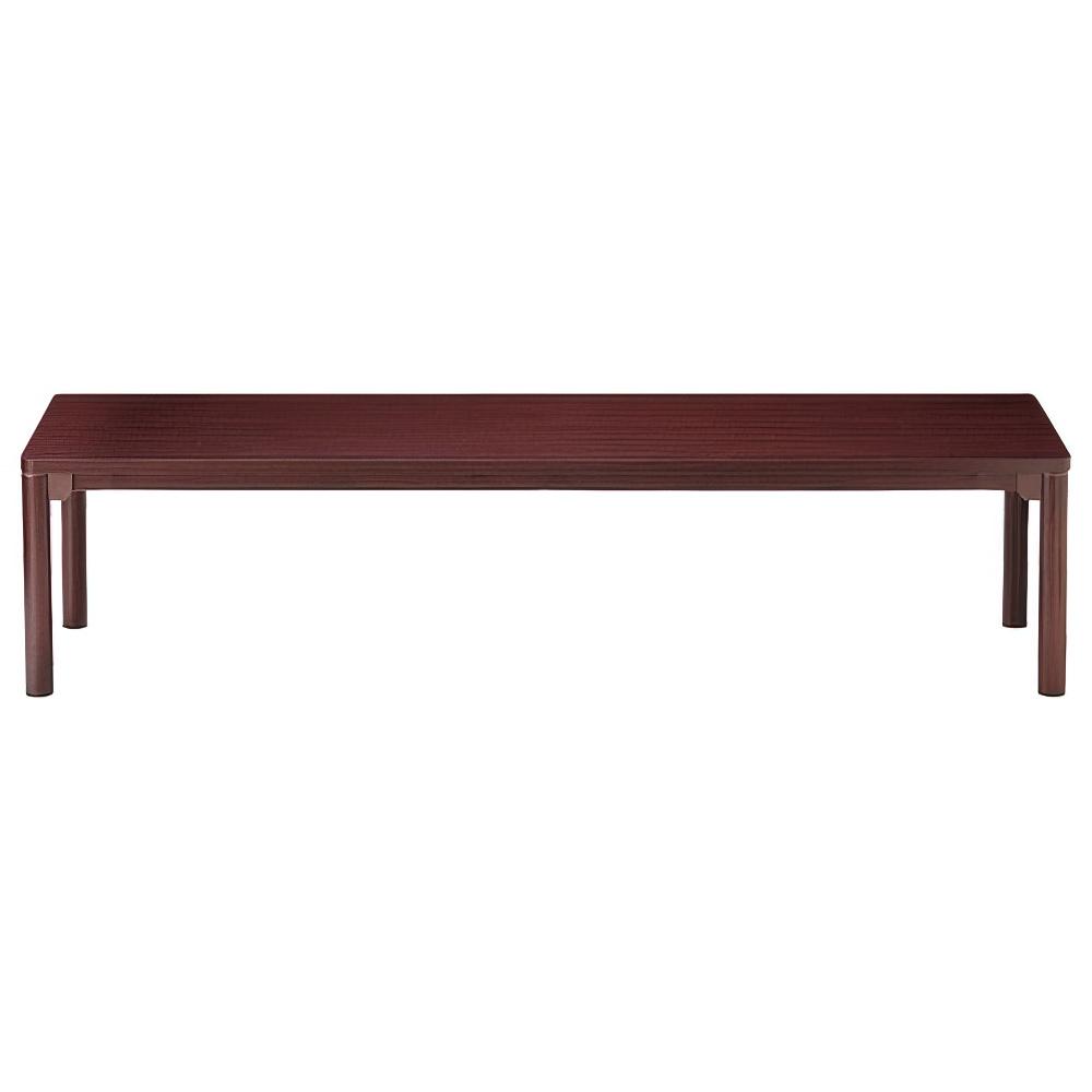 センターテーブル CTRシリーズ W1800×D450×H450mm マホガニー 応接家具 レセプション オフィス家具