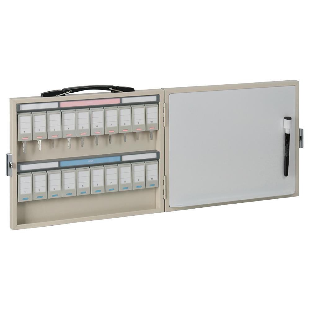 ホワイトボード付きキーステーション20個収容 NKSタイプ W333×D40×H270mm キーボックス 鍵保管庫 鍵保管棚 オフィス収納 オフィス家具