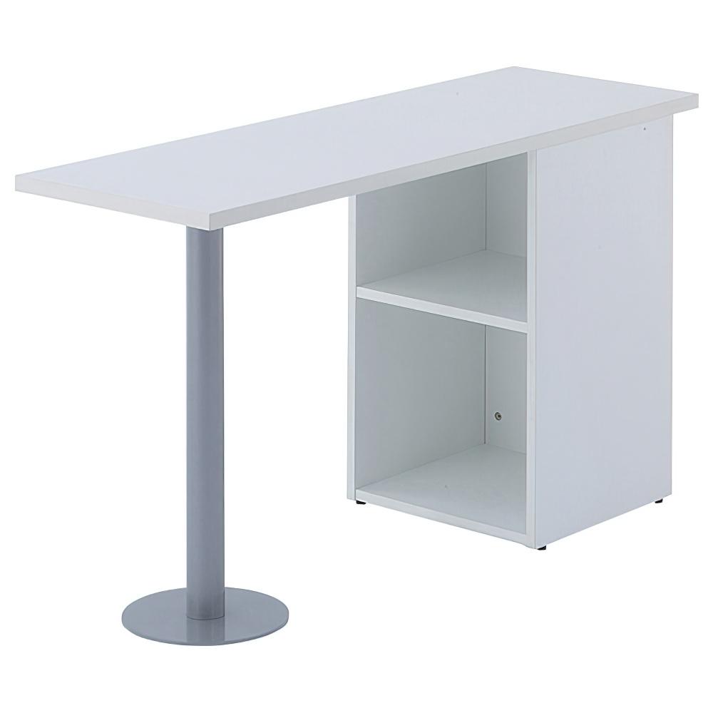 ノルム サイドテーブル W1200 D400 H700 ホワイト デスク ワゴン 机横収納 オフィス家具 机 デスク テーブル カバン クッション ファイル フェルト デスクサイド
