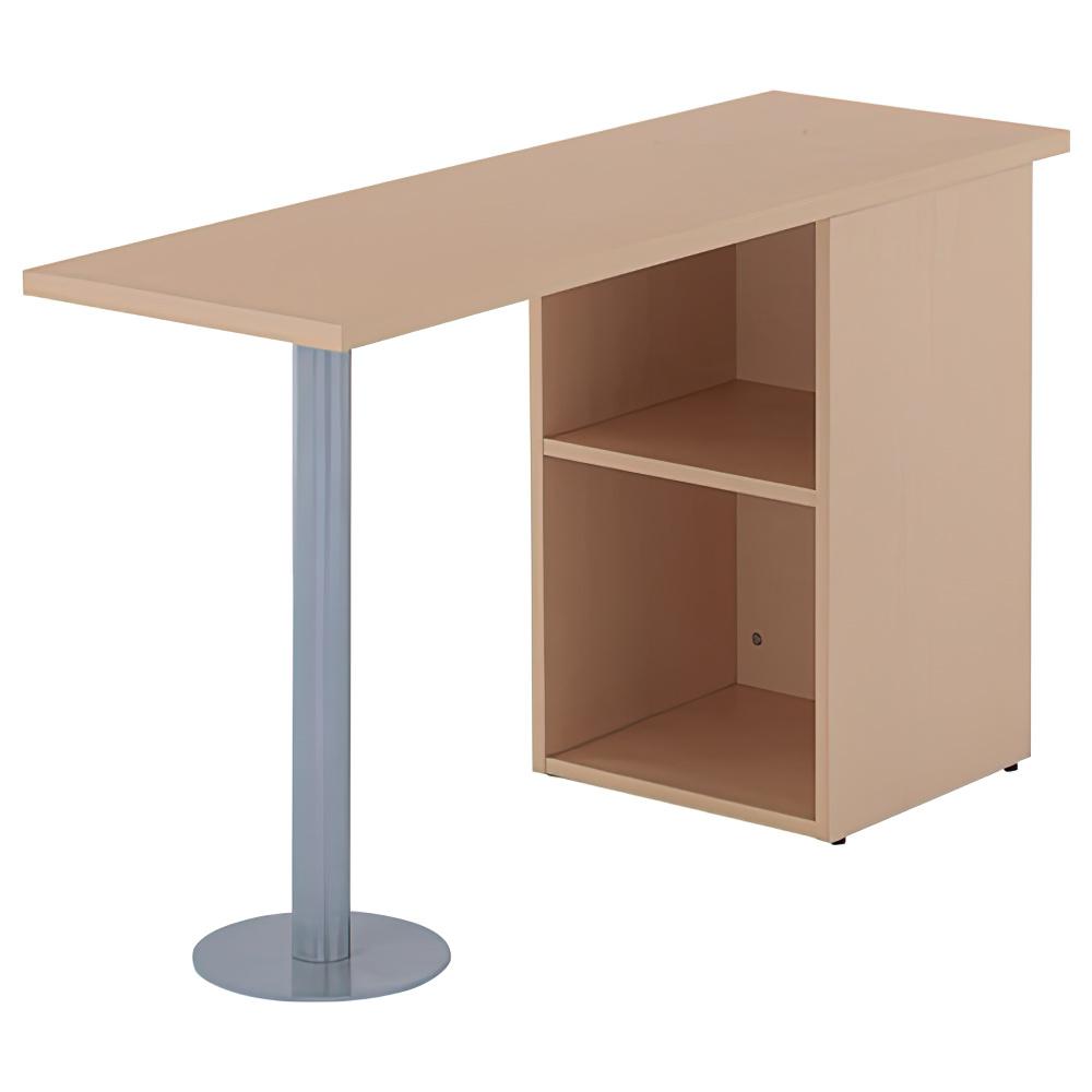 ノルム サイドテーブル W1200×D400×H700mm ナチュラル サイドデスク 木製 木目 オフィス家具
