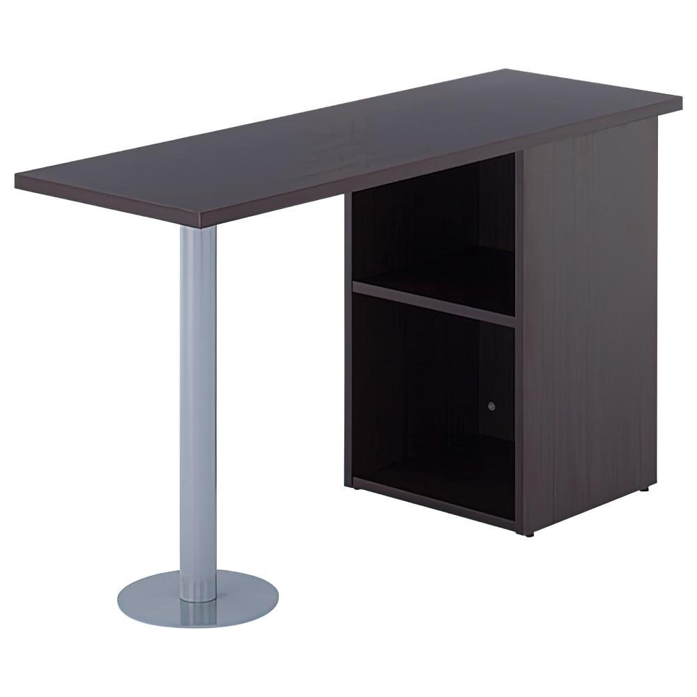 ノルム サイドテーブル W1200×D400×H700mm ダークブラウン サイドデスク 木製 木目 オフィス家具