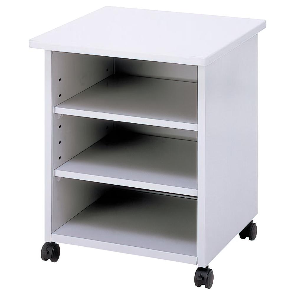 プリンタテーブル ボックスタイプ W600 D600 H700 ニューグレー デスク ワゴン 用途別ワゴン ラック オフィスワゴン ブックワゴン プリンター グリーン キャスタ
