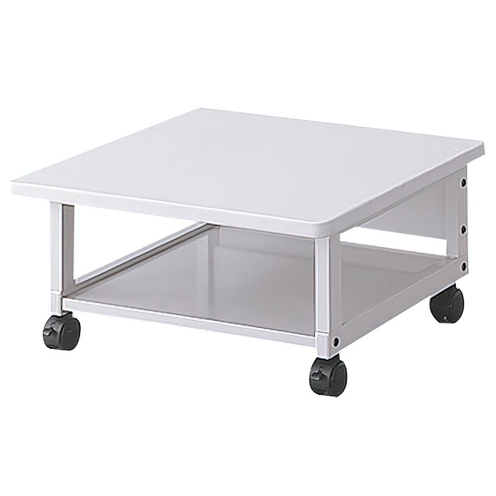 プリンタテーブル ロータイプ W600×D600×H300mm プリンタ台 プリンタラック ワゴン オフィス家具
