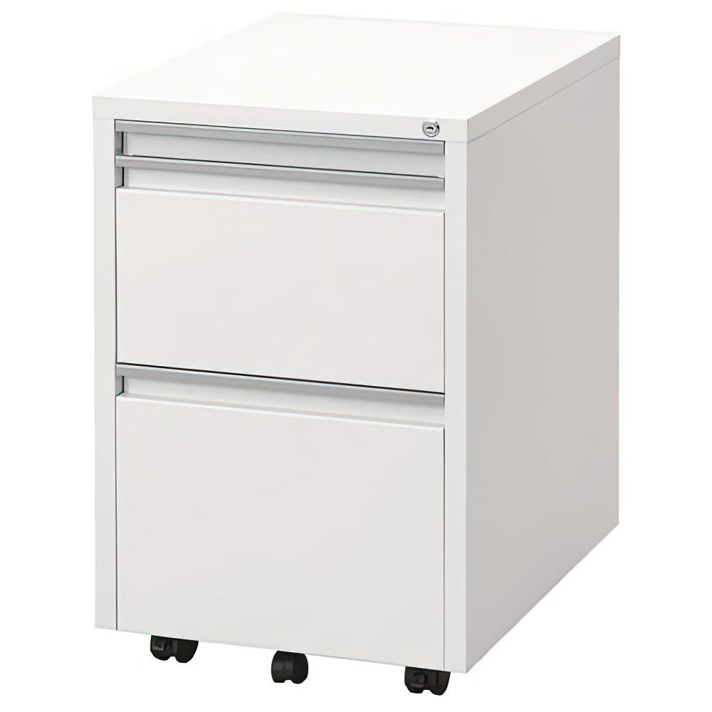 スライドテーブルワゴン W400×D510-910×H615mm ホワイト スライドテーブルキャビネット インサイドワゴン オフィス家具