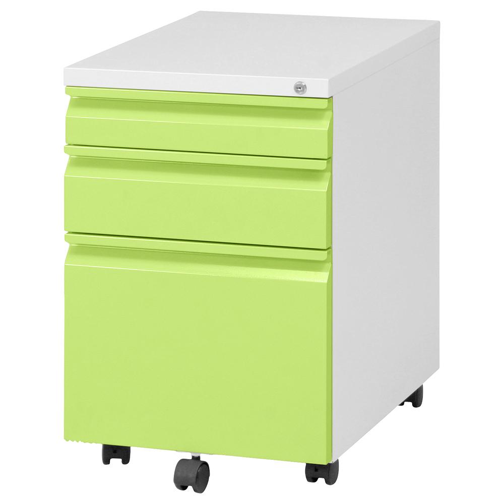 オフィス用インキャビネット W395 D550 H595  グリーン