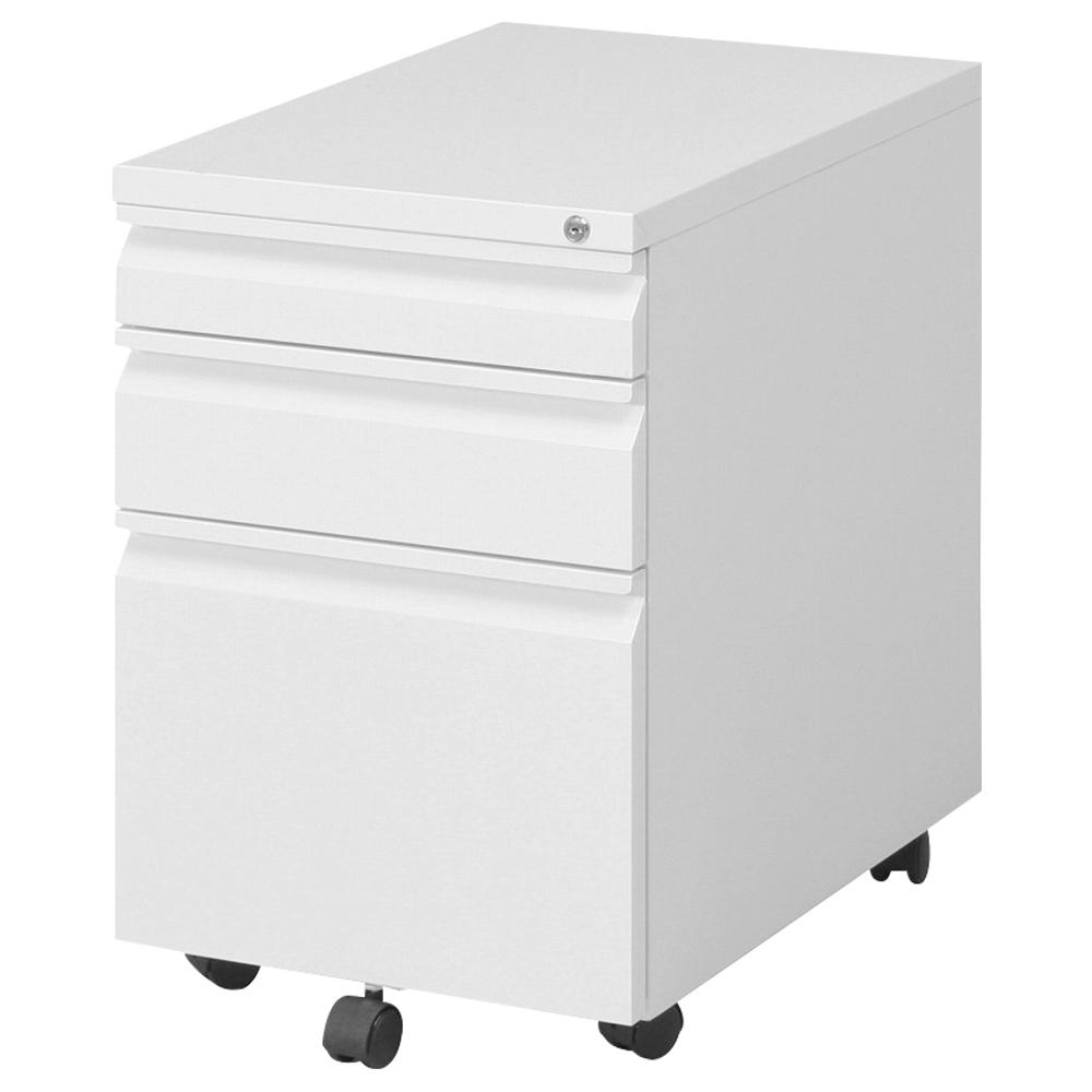 オフィス用インキャビネット W395 D550 H595  ホワイト