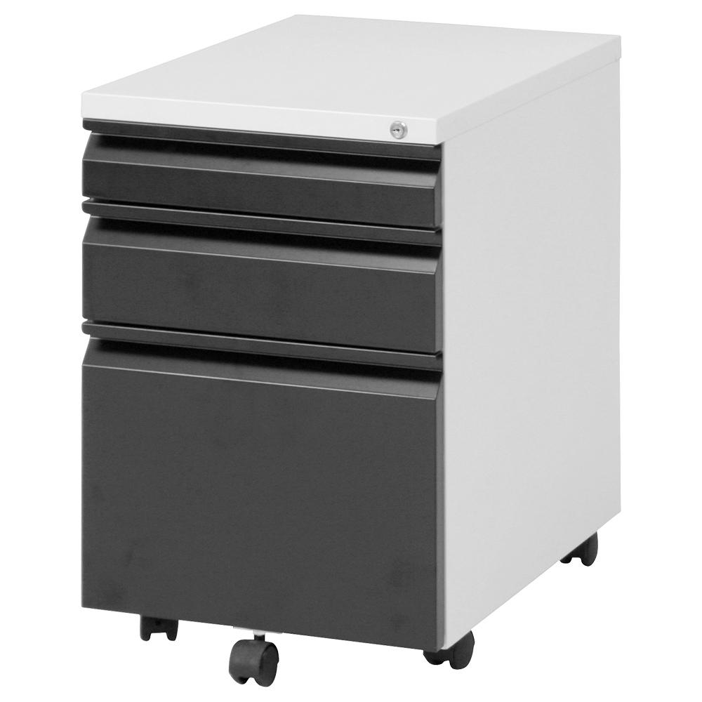インキャビネット W395 D550 H595 ブラック デスク ワゴン インサイドワゴン オフィスワゴン 多目的ワゴン グリーン ファイル ロック ポップ キャスター インサ