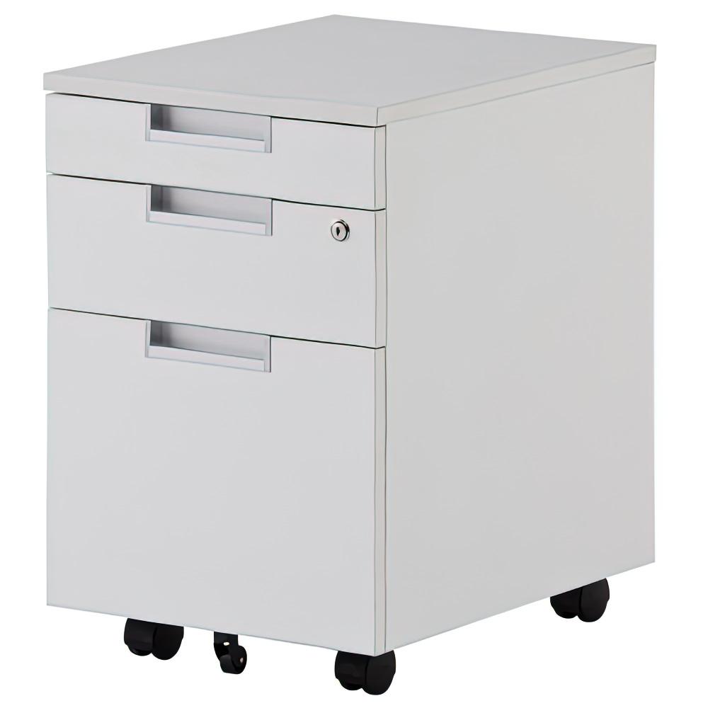 オフィス用ジェイ インサイドワゴンIII W396 D550 H610  ホワイト