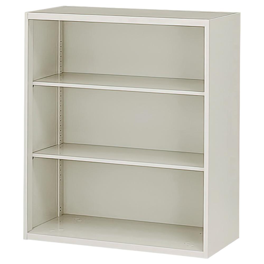 オープン書庫 ニューグレー W900×D450×H1050mm システム収納庫 オフィス収納 キャビネット オフィス家具