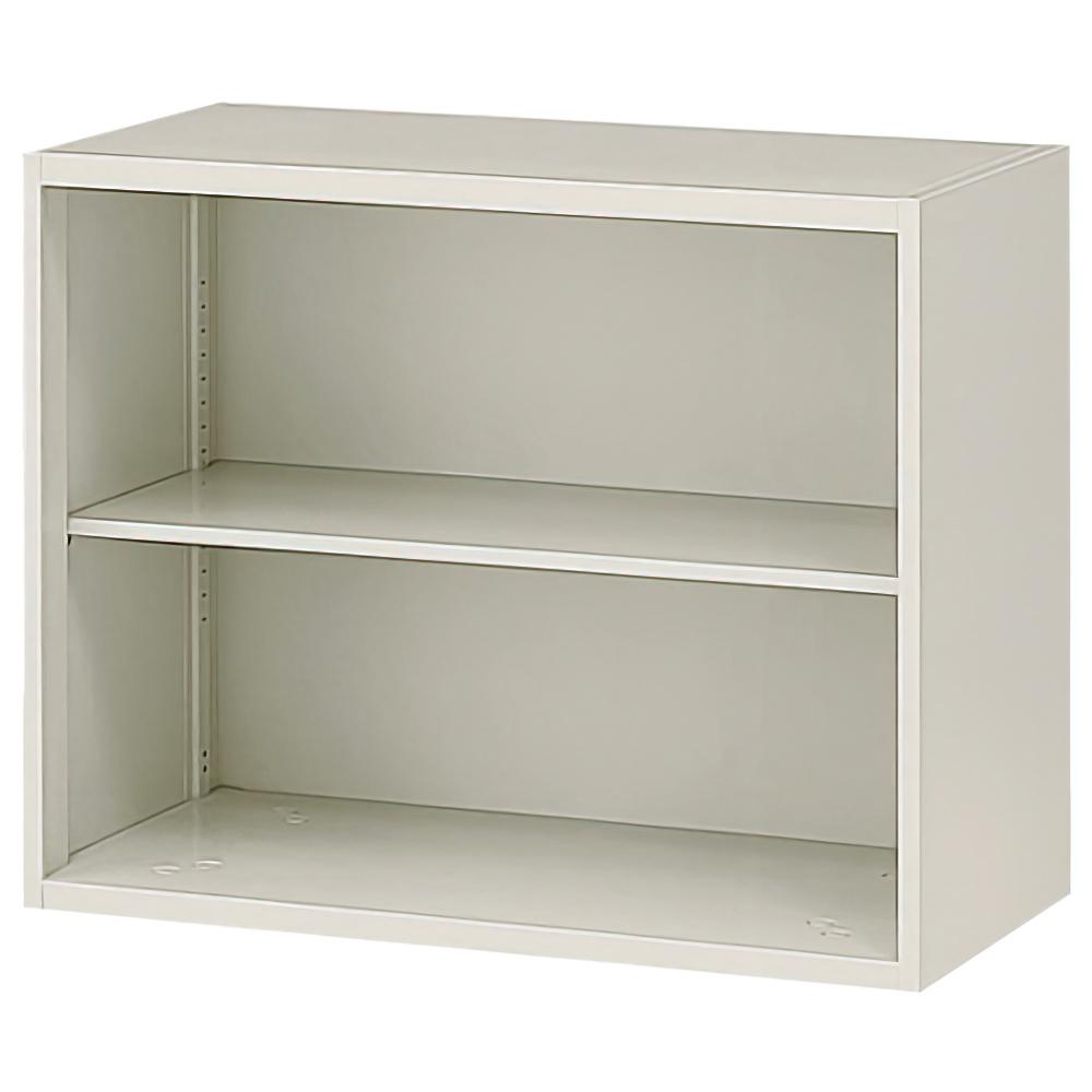オープン書庫 ニューグレー W900×D450×H750mm システム収納庫 オフィス収納 キャビネット オフィス家具