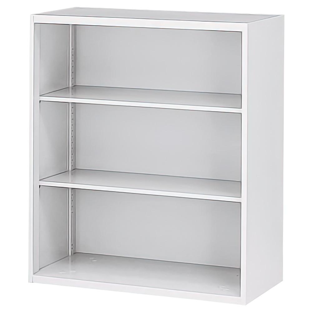 オープン書庫 ホワイト W900×D450×H1050mm システム収納庫 オフィス収納 キャビネット オフィス家具