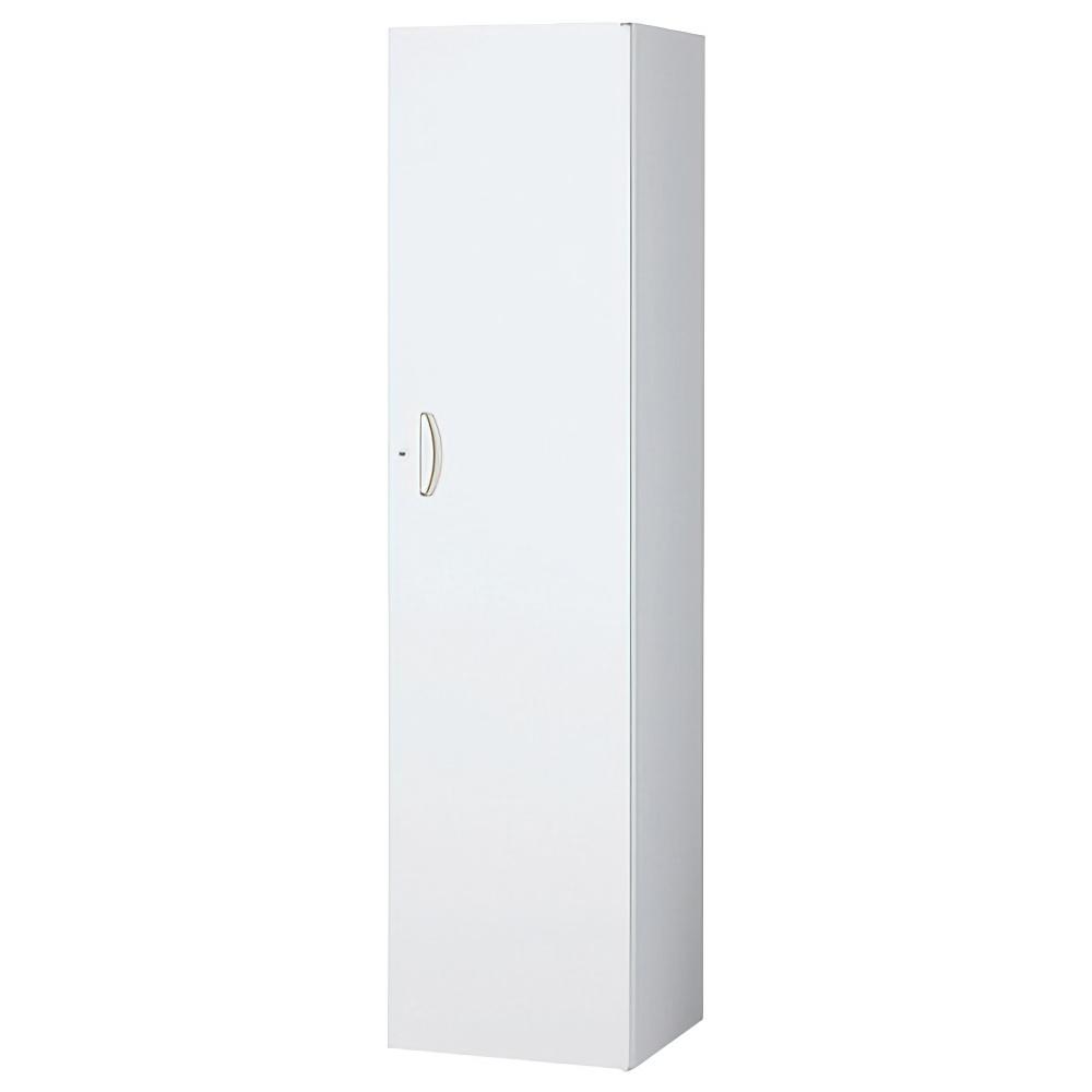 片開きスキマ書庫 ホワイト W450×D450×H1800mm  システム収納庫 オフィス収納 キャビネット オフィス家具