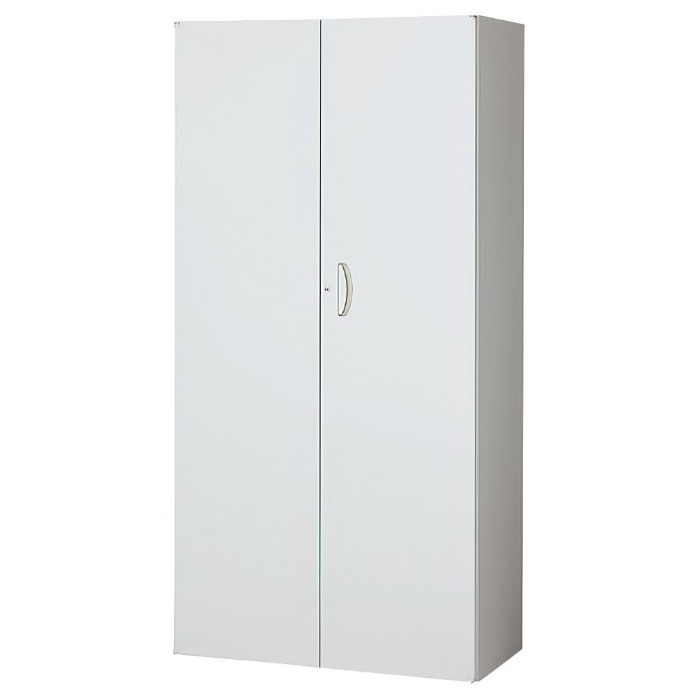 両開き書庫 ホワイト W900×D450×H1800mm システム収納庫 オフィス収納 キャビネット オフィス家具