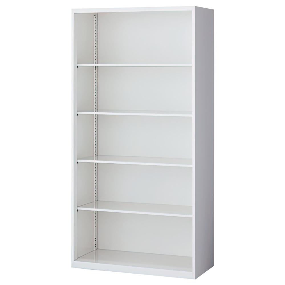 オープン書庫 ホワイト W900×D450×H1800mm システム収納庫 オフィス収納 キャビネット オフィス家具