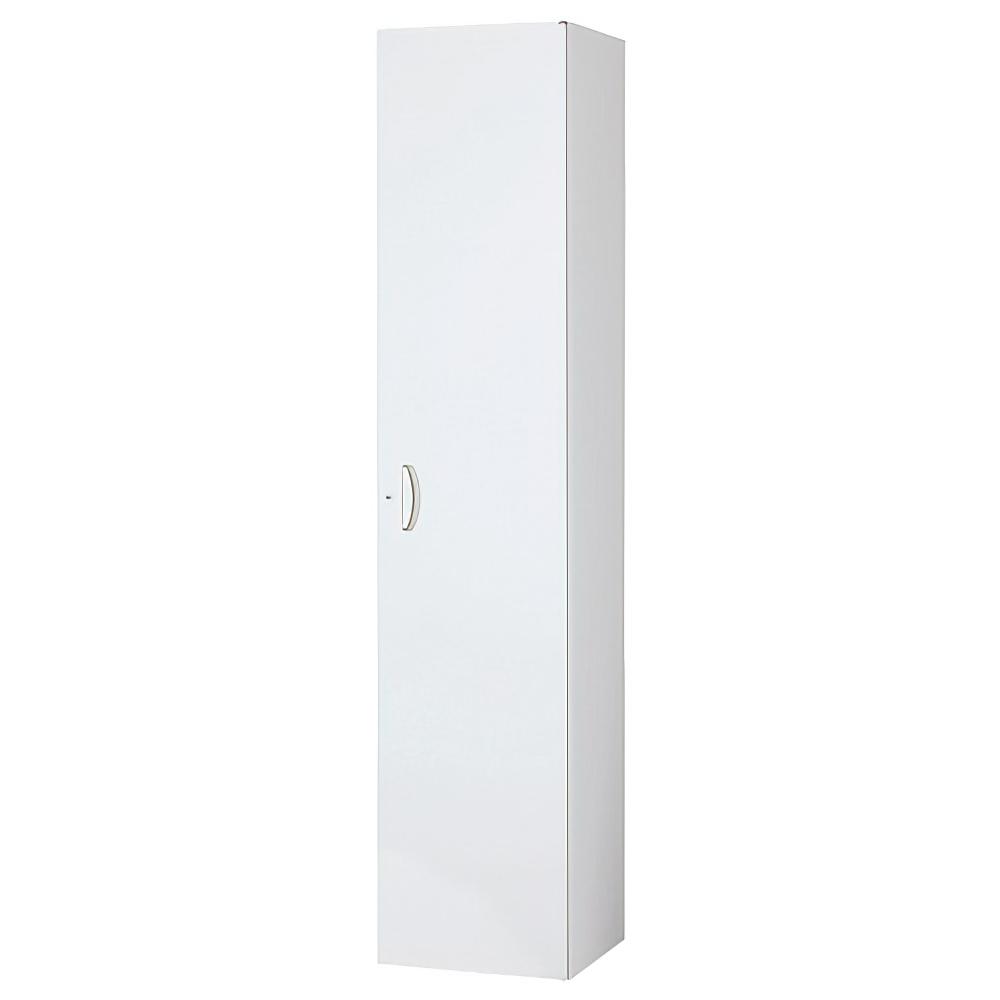 片開きスキマ書庫 ホワイト W450×D450×H2100mm  システム収納庫 オフィス収納 キャビネット オフィス家具