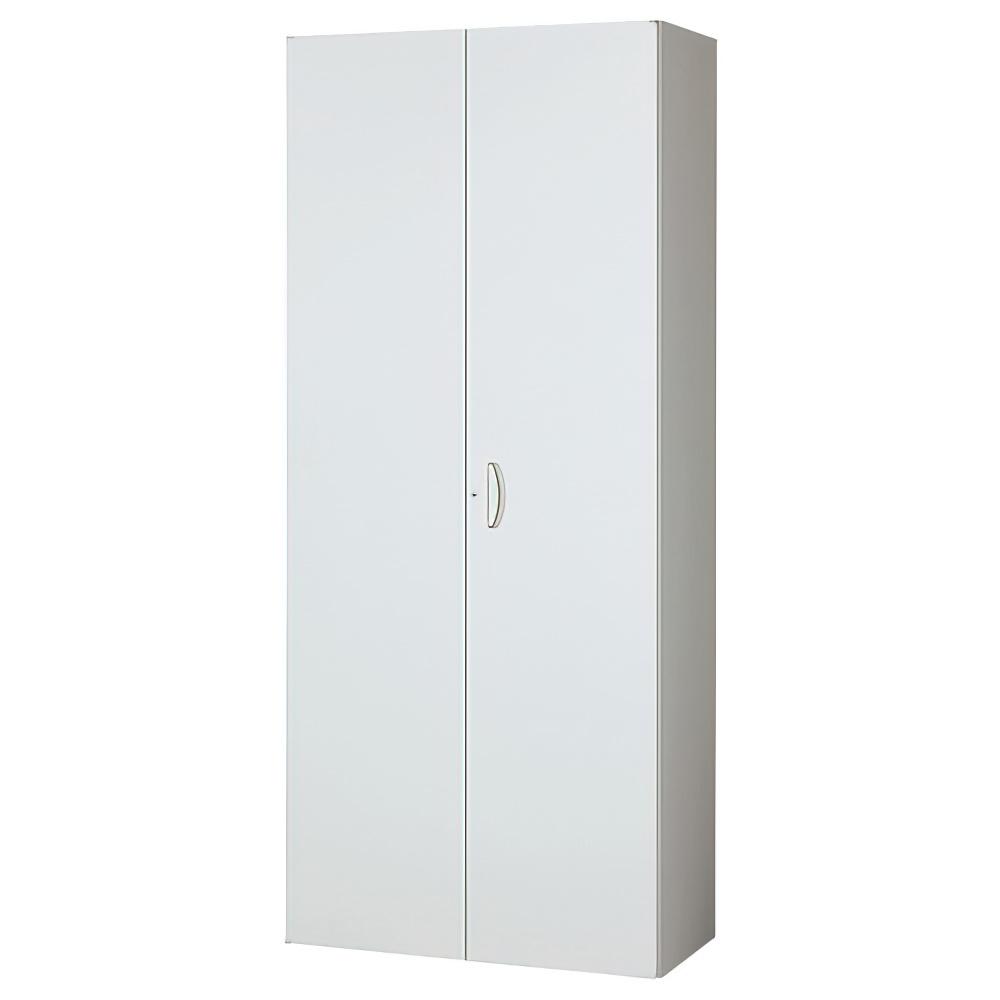 両開き書庫 ホワイト W900×D450×H2100mm システム収納庫 オフィス収納 キャビネット オフィス家具