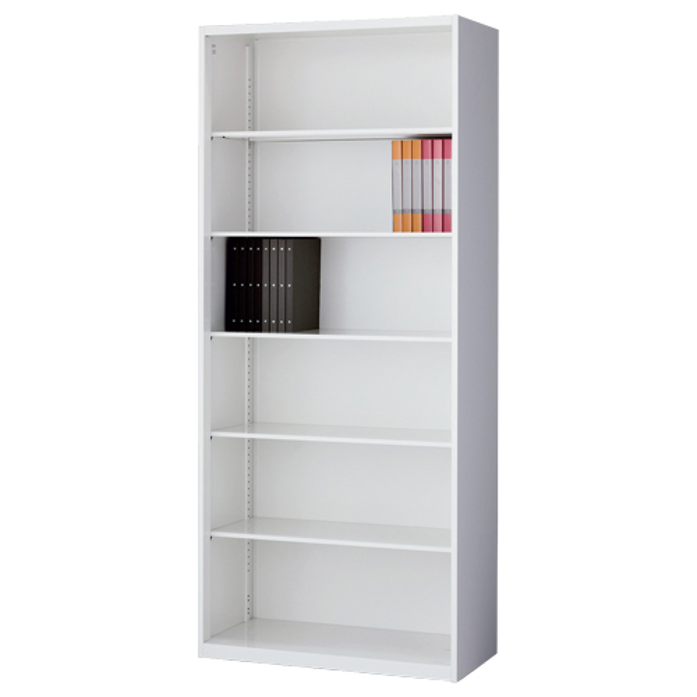 オープン書庫 ホワイト W860×D450×H2100mm システム収納庫 オフィス収納 キャビネット オフィス家具