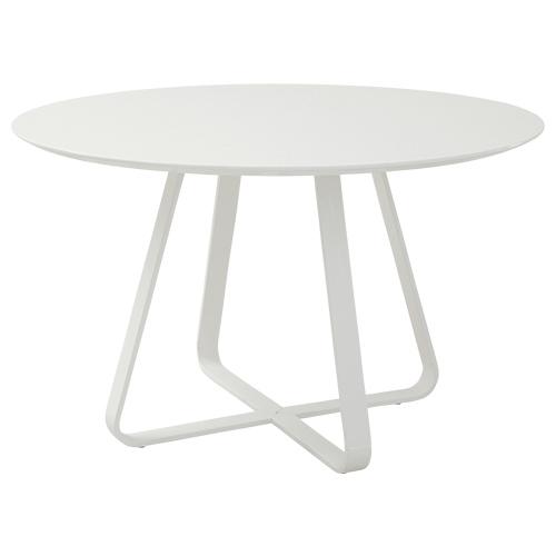 クロップ ダイニングテーブル W1200×D1200×H730mm ミーティングテーブル 会議机 円形 ホワイト リフレッシュテーブル オフィス家具