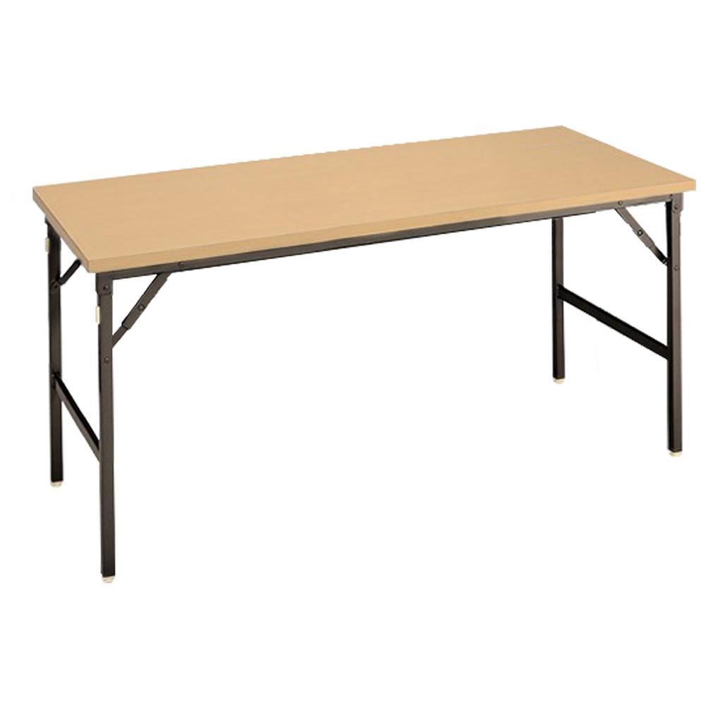 オフィス用クランク式折畳テーブル W1800 D600 H700  メープル