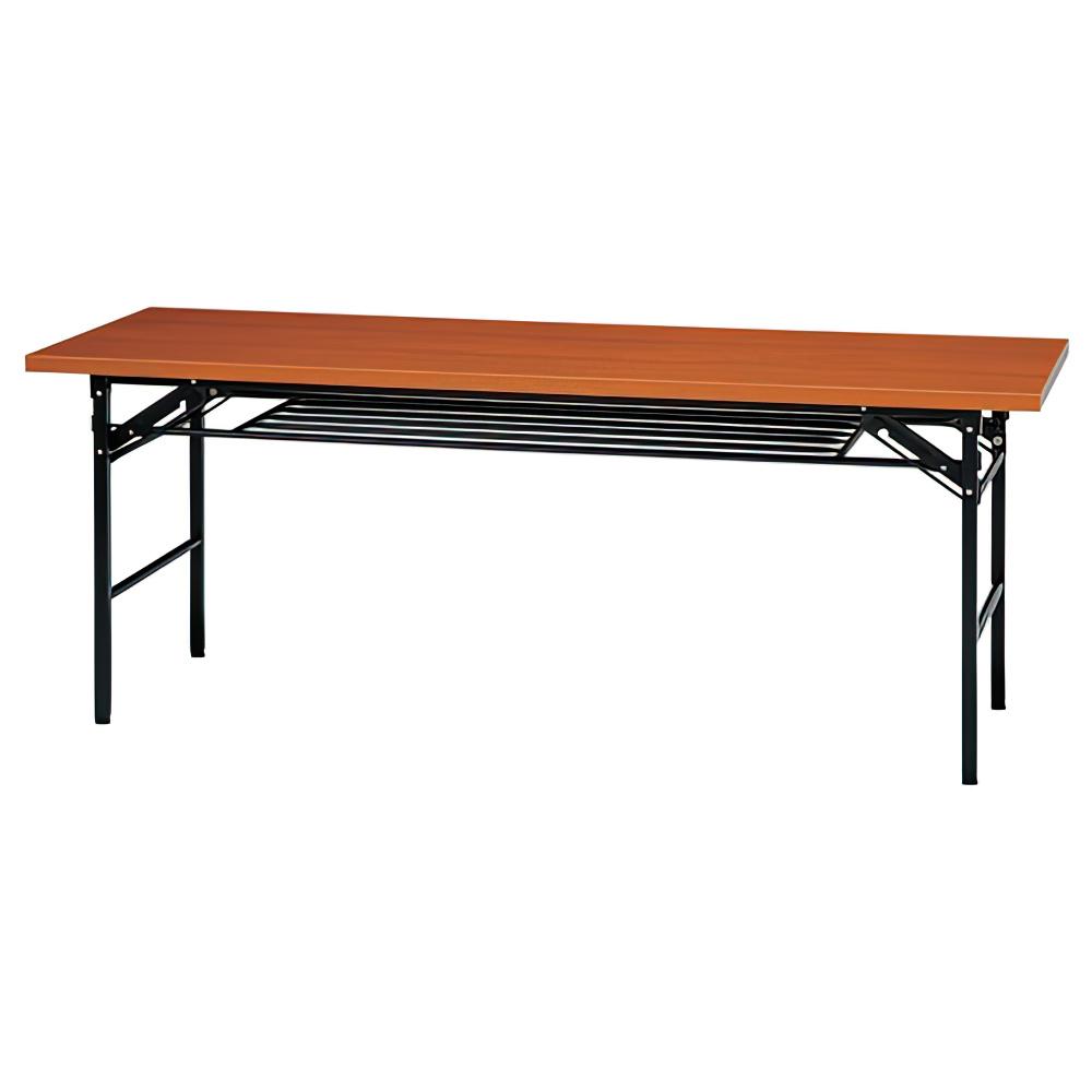 折りたたみテーブル IKシリーズ W1500×D450×H700mm 会議机 長机 チーク ミーティングテーブル 会議テーブル オフィス家具