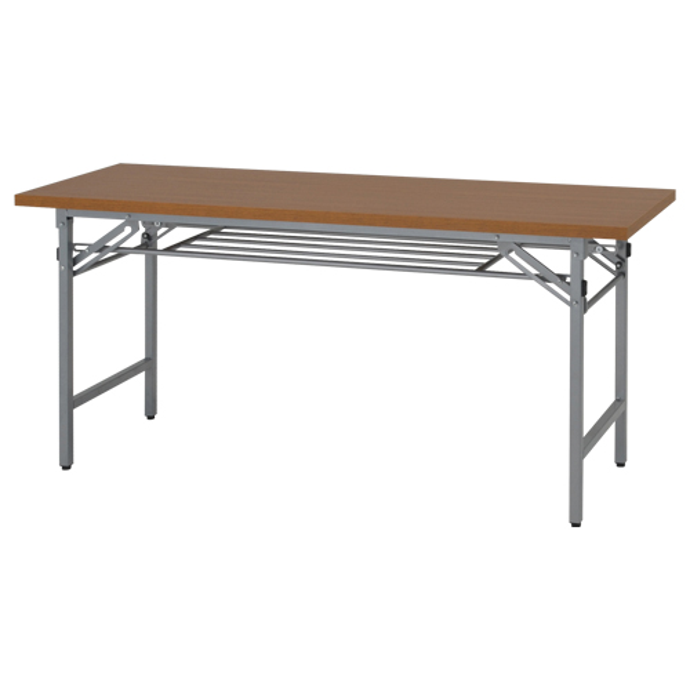折りたたみテーブル W1500×D450×H700mm 会議机 長机 木目 ミーティングテーブル 会議テーブル 折畳 オフィス家具