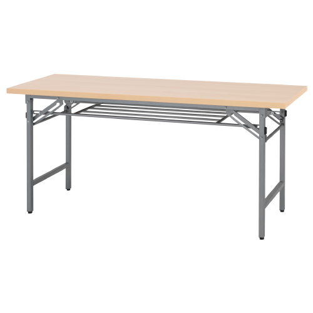 折りたたみテーブル W1500×D450×H700mm 会議机 長机 ナチュラル ミーティングテーブル 会議テーブル 折畳 オフィス家具