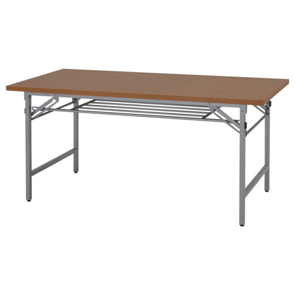 折りたたみテーブル W1500×D600×H700mm 会議机 長机 木目 ミーティングテーブル 会議テーブル 折畳 オフィス家具