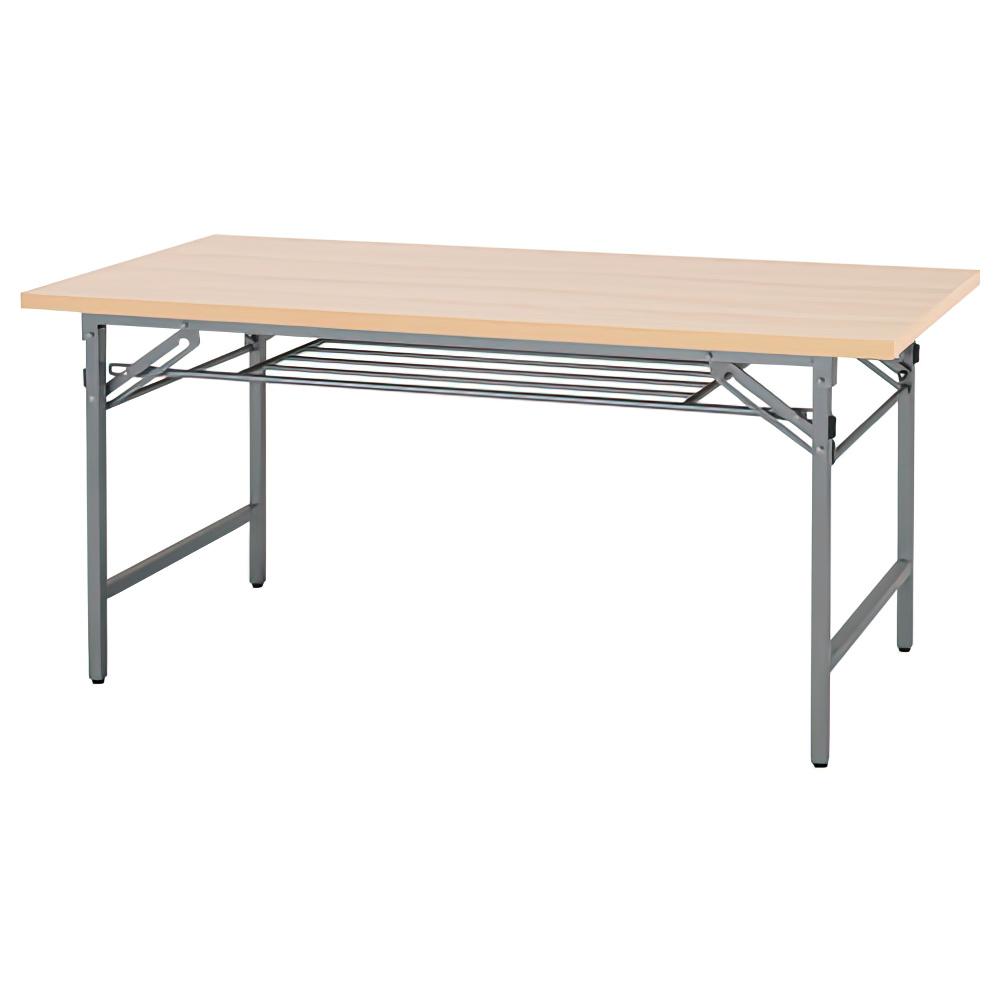 折りたたみテーブル W1500×D600×H700mm 会議机 長机 ナチュラル ミーティングテーブル 会議テーブル 折畳 オフィス家具